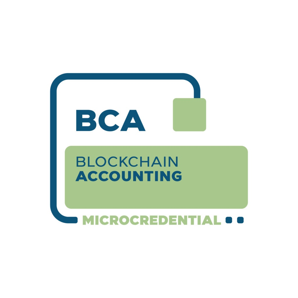Blockchain Accounting Microcredential digital badge from the Blockchain Certification Association