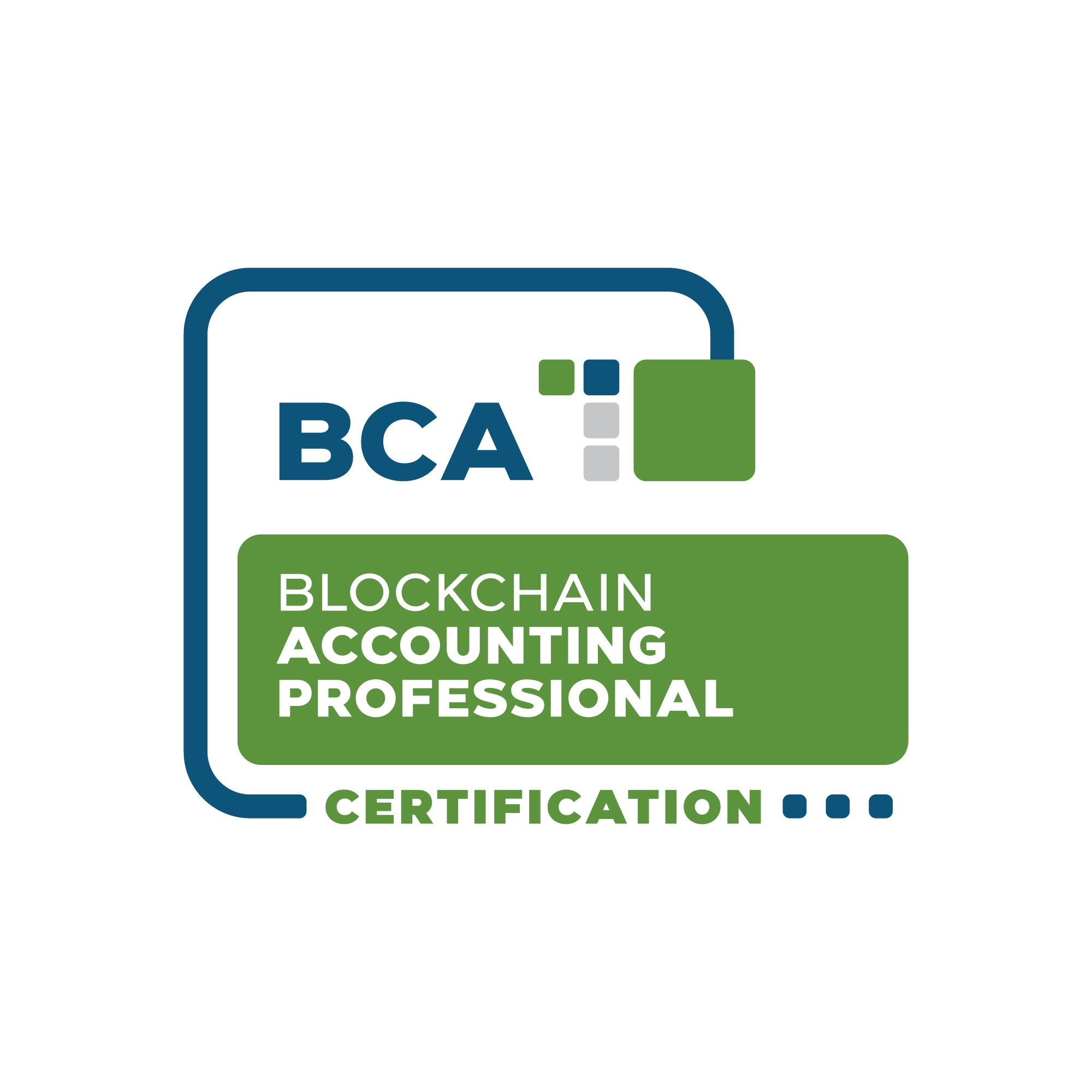 Blockchain Accounting Professional Certification digital badge from the Blockchain Certification Association