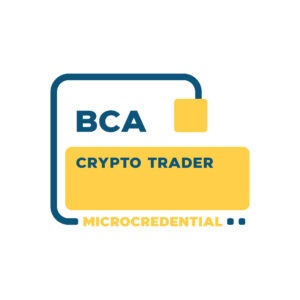 Crypto Trader Microcredential digital badge from the Blockchain Certification Association